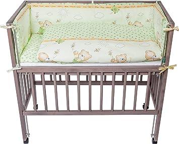 Fillikid Bettwäscheset Für Komplett Cocon Bär Grün Amazonde Baby
