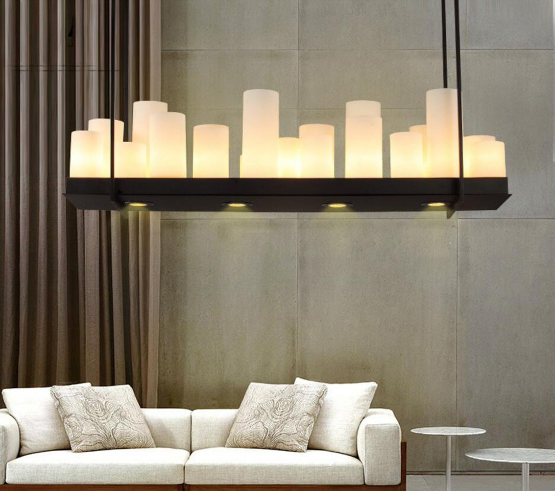 Aiwen ceiling lighting rectangular wrought iron chandelier candle aiwen ceiling lighting rectangular wrought iron chandelier candle light pendant light ceiling lamp bulbs not included black 21 lamp holder amazon arubaitofo Image collections