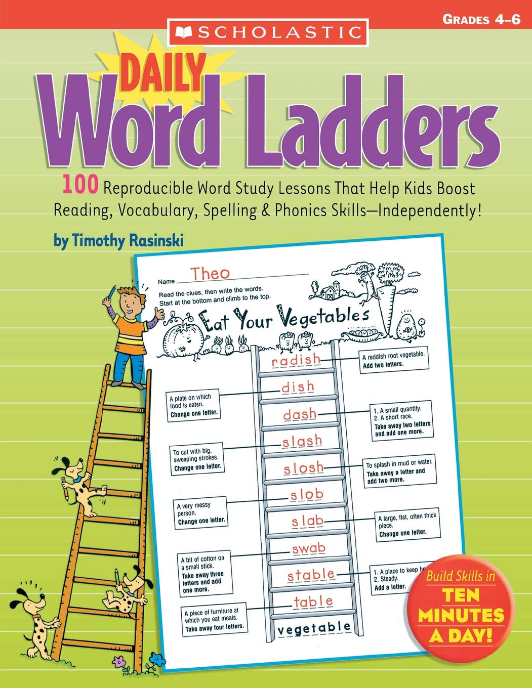 Daily Word Ladders Grades 46 100 Reproducible Word Study Lessons