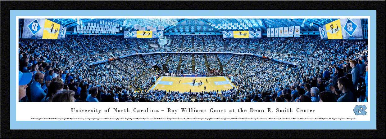 North Carolina Basketball - 42x15.5-inch Single Mat, Select Framed Picture by Blakeway Panoramas by Blakeway Worldwide Panoramas, Inc.