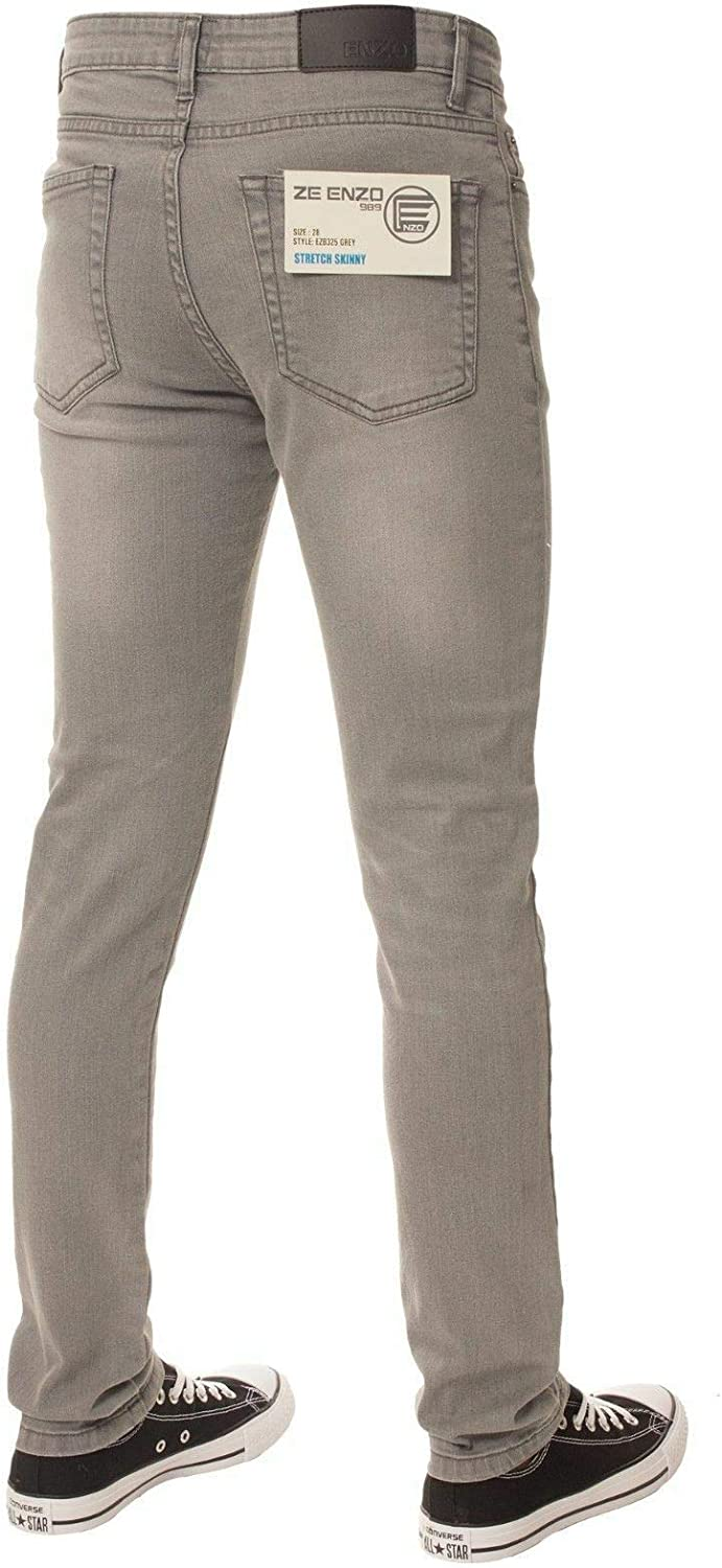 Enzo Boys Skinny Slim Fit Stretch Chinos Pants