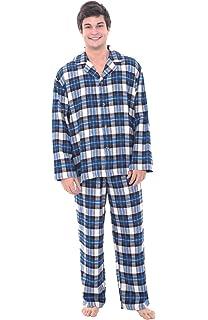 Alexander Del Rossa Mens Plaid Flannel Pajamas, Long Cotton Pj Set