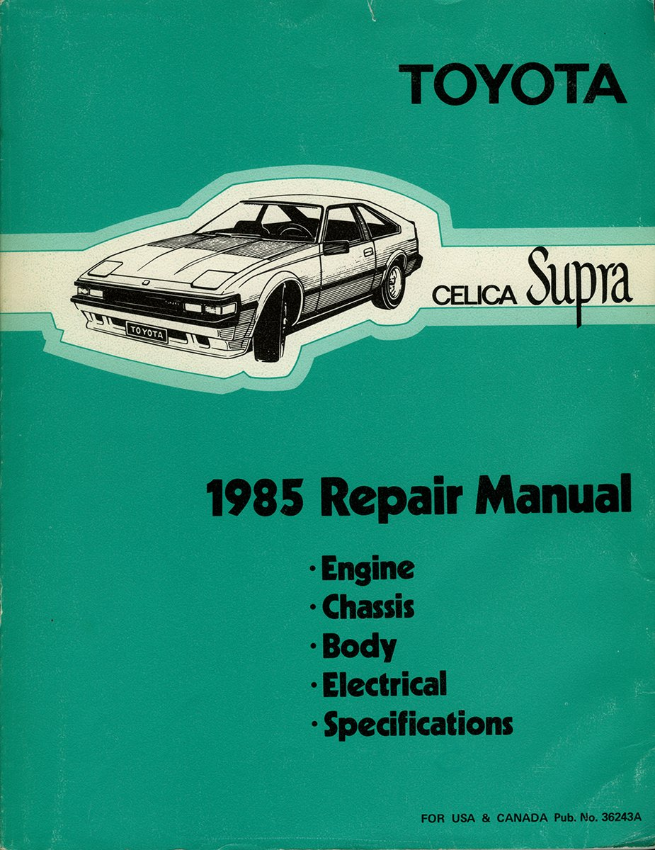 1985 Toyota Celica Supra Repair Shop Manual Original Books 1986 Wiring Diagram