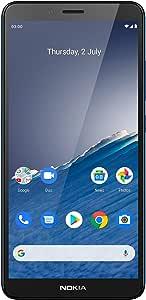 هاتف نوكيا سي 3 آندرويد، ذاكرة رام 2 جيجابايت، ذاكرة 16 جيجابايت، اتش دي + اي بي اس مع زجاج مقوى - ازرق نورديك