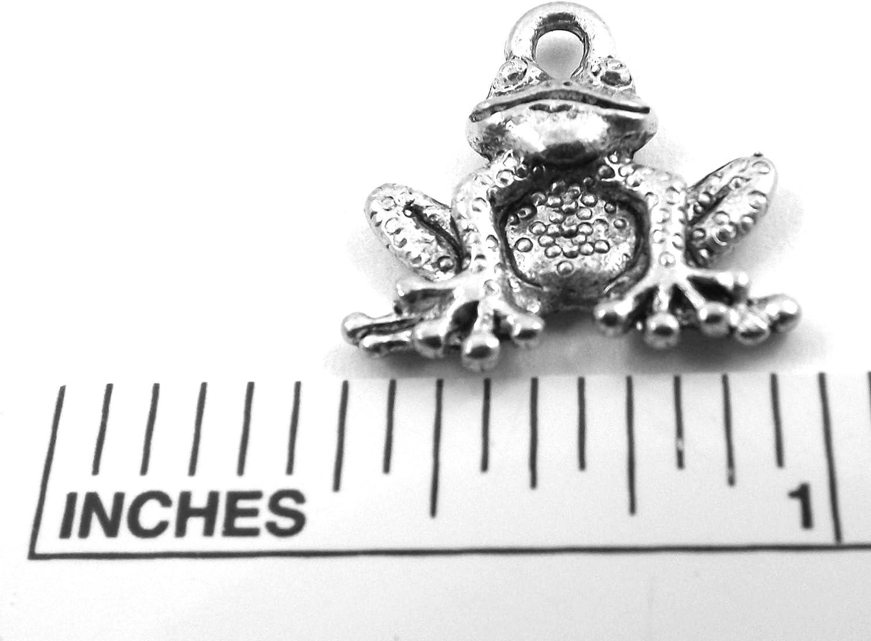 Dozen Pewter Frog Charms