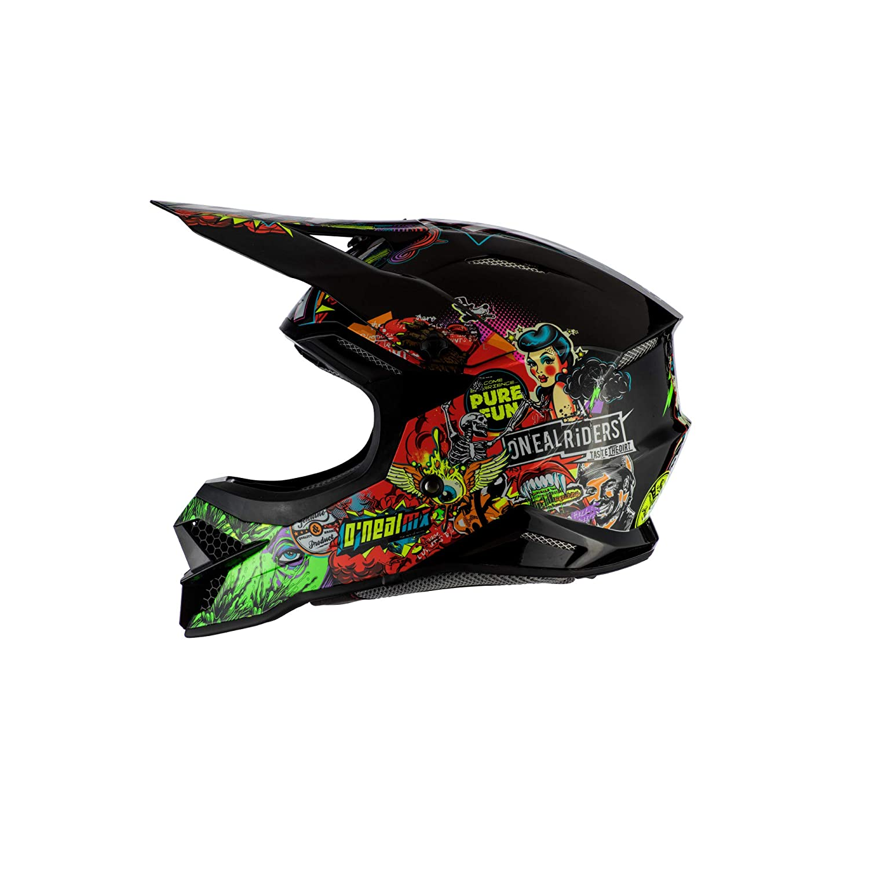 Casco Moto MX-Motocross 55//56 cm Adultos Unisex Oneal 3SRS Helmet Crank 2.0 Multi S