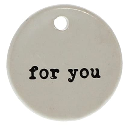 amazon com for you round gift tag label set 6 hanger present
