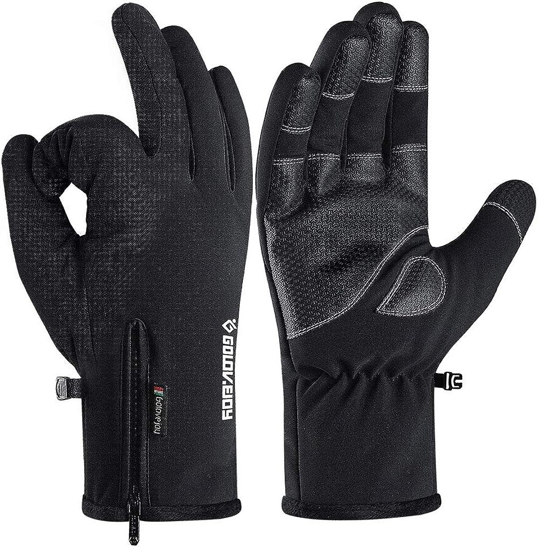 -30℉ 100% Waterproof Winter Gloves for Men 10 Touch Screen Fingers for Ski Snow