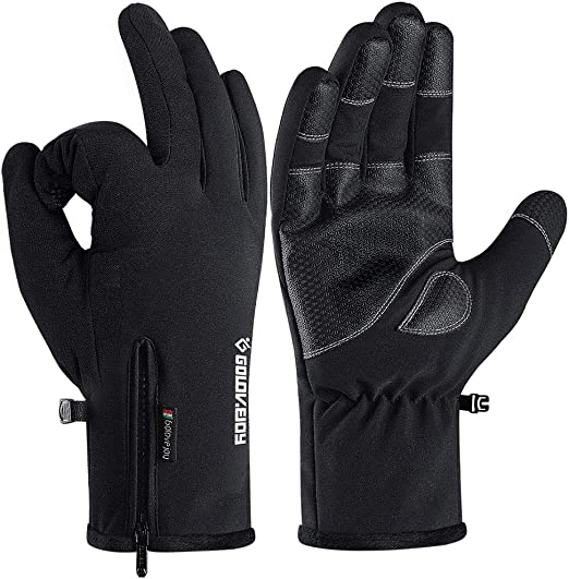 MENS BLACK GLOVES WINTER BLACK MAGIC GLOVES ADULTS SOFT THERMAL STRETCH GLOVES