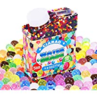 Crystal Gel Water Beads CiaraQ Pack (50000 beads) Rainbow Mix Jelly Water Growing Balls, Kids Sensory Toys , Vases, Plant, Wedding Party Decoration Crystal Soil