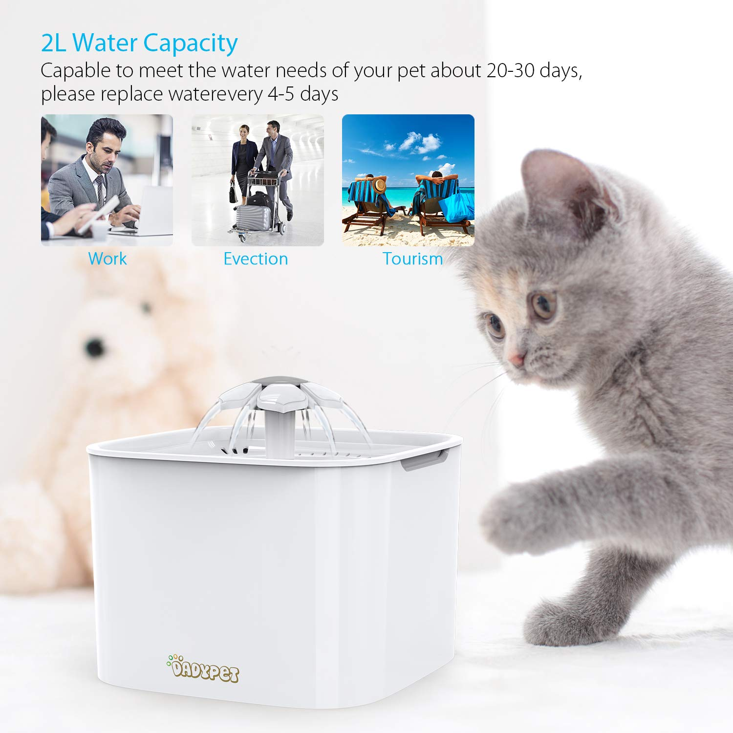 Apprehensive 3 Litre Auto Dispenser Pet Food Water Feeder Bowl Green Cat Kitten Puppy Dog Products Hot Sale Dishes, Feeders & Fountains Cat Supplies
