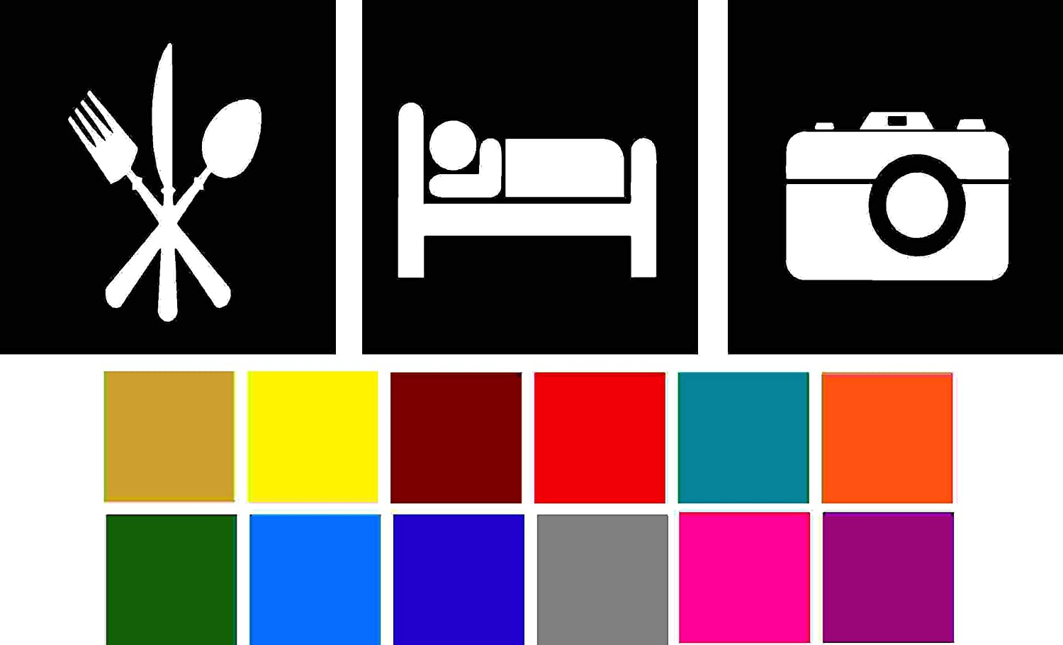 Eat Sleep Photography Decal Choose Color V and T Gifts