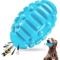 Dog Chew Toys for Aggressive Chewers Large Breed, Non-Toxic Natural Rubber Squeaky Dog Toy, Tough Durable Puppy…
