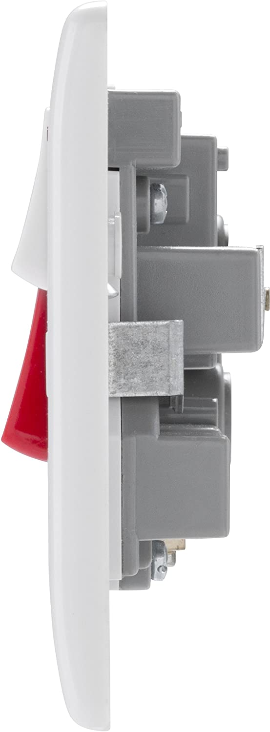 BG 971 Cooker Control Unit 45A DP Switch 13A Socket Outlet White Square Edge