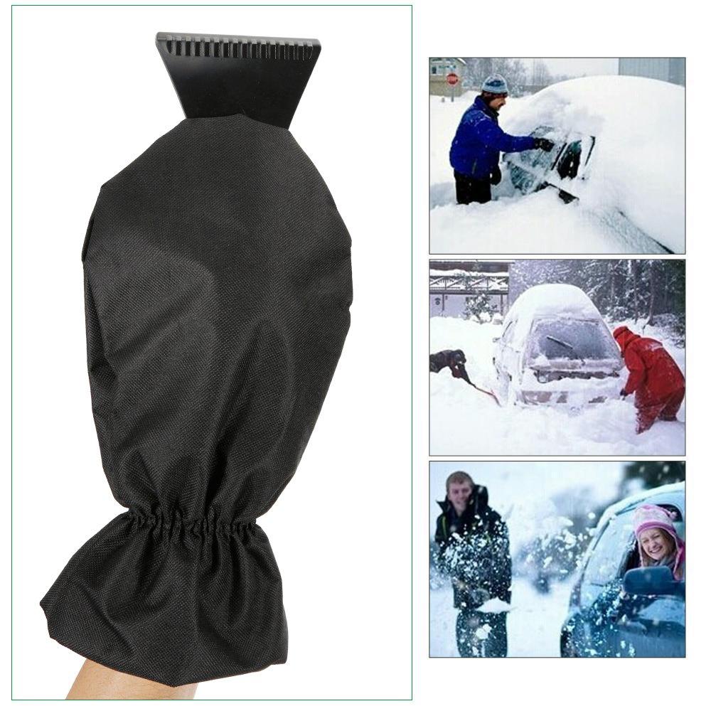 Faburo 2pcs Grattoirs /à neige avec Gant Raclette imperm/éable Doublure Polaire Prot/ège du Froid
