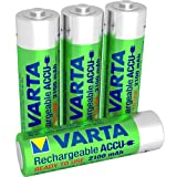 Varta Rechargeable Accu Ready2Use vorgeladener AA Mignon Ni-Mh Akku (4-er Pack. 2100 mAh) , wiederaufladbar ohne Memory-Effekt - sofort einsatzbereit