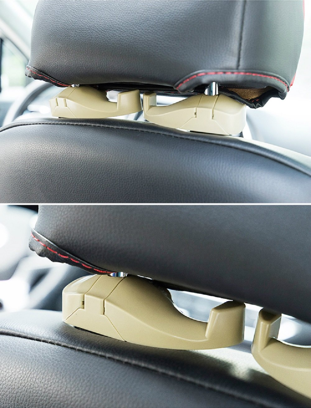 Universal Car Back Seat Headrest Hanger Holder Hook for Purse Groceries Bag Handbag,2 Pack Car Back Seat Hook for Headrest Organizer Hanger Storage MUKUN Car Headrest Hooks