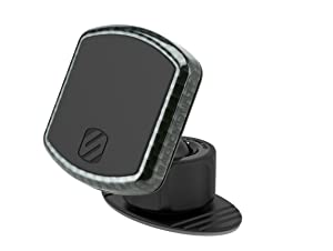 SCOSCHE MPDCFA MagicMount Pro Universal Magnetic Phone/GPS Mount for The Car, Home or Office with Carbon Fiber Trim Ring