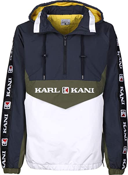 Karl Kani Retro Block Chaqueta Cortavientos Navy/White/Green ...