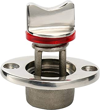Boat Oval Garboard Drain Plug 316 Stainless Steel Fits 1/'/' Hole Thread Marine