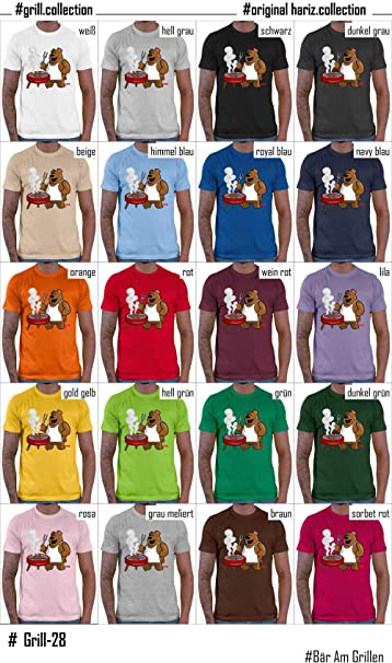 Camiseta para hombre con diseño de oso en barbacoa de Hariz, con tarjeta de regalo: Amazon.es: Ropa y accesorios