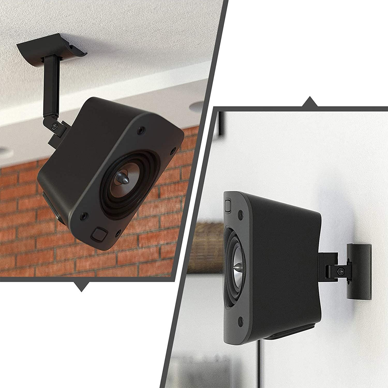 100 Pack, Wall Or Ceiling Mount for Logitech Z100 100.100 Surround Sound Speaker  System Tilt and Swivel Adjustable Mounting Bracket for Logitech Z100
