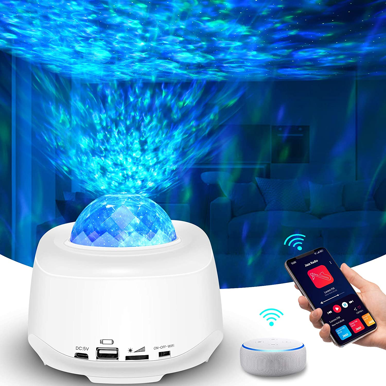 Nebulicht mit Bluetooth Lautsprecher Tasmor Music Galaxy Projektor mit Fernbedienung Kinder Erwachsene Zimmer Dekoration LED Sternenhimmel Projektor Lampe Sky Lite f/ür Party Weihnachten