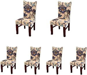 6x Stretch Dining Chair Cover Slipcovers Removable Banquet Protective Cover #