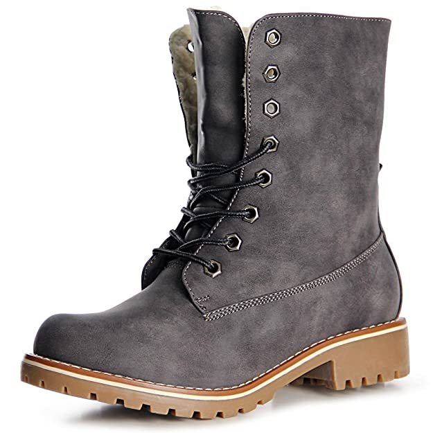 topschuhe24 Mujer Botín Botines Worker Boots: Amazon.es: Zapatos y complementos