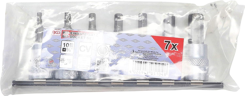 3//8 Bit-Einsatz-Satz BGS 5109 10 mm 6-tlg. | Innensechskant mit Kugelkopf 3-8 mm