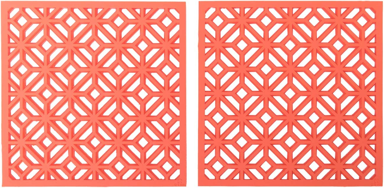 Silicone Trivet for hot Dishes Pots and Pans our Decorative Table Mats can be used as Pot Holders and Oven Mitts Coasters Jar Openers and are Microwave safe Set of 2 Potholders by Qs INN.