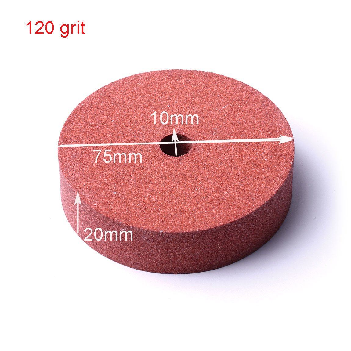ATOPLEE 1pc 75mm Diameter Grit 120# Polishing Grinding Stone Wheel for Bench Grinders