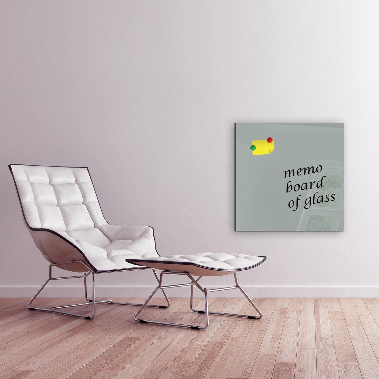 Pizarra magnético magnética de cristal tablón Memo Board magnético Pizarra pared de cristal Decoración (BxH) 50 x 50 cm einfarbig gris FMK de 55 – 074 magnética pizarras pizarras magnéticas Formas de pizarras de texto monocro b23995