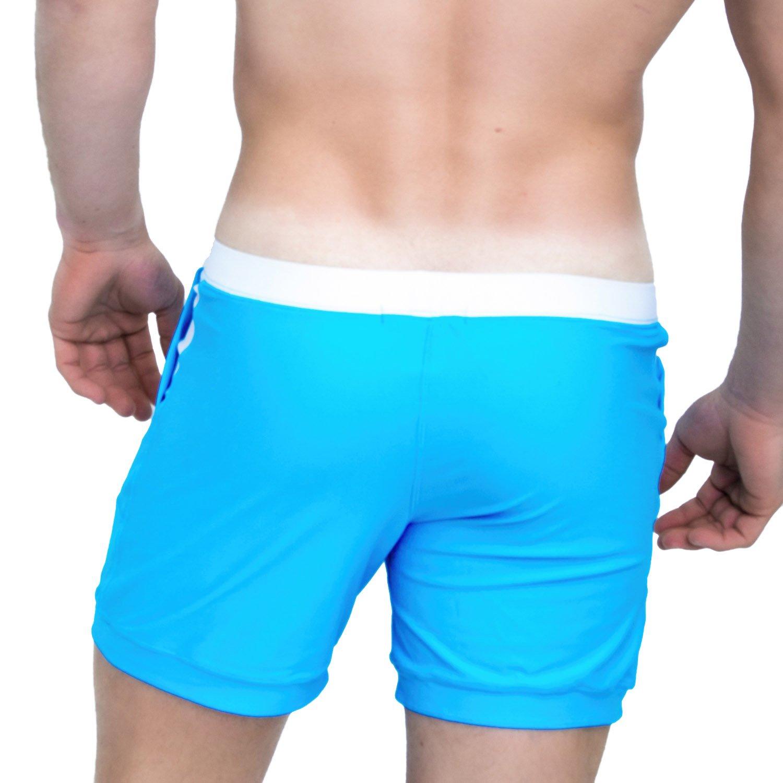 d6c8dcb824 Taddlee Men Swimwear Solid Basic Long Swim Boxer Trunks Board Shorts  Swimsuits | Amazon.com