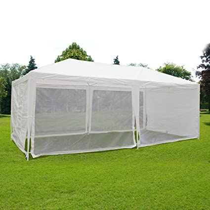 Amazon.com  Quictent Outdoor Canopy Gazebo Party Wedding Tent Screen House Sun Shade Shelter with Fully Enclosed Mesh Side Wall (10u0027x20u0027 White)  Garden u0026 ...  sc 1 st  Amazon.com & Amazon.com : Quictent Outdoor Canopy Gazebo Party Wedding Tent ...