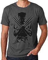 Wolverine Logan T-shirt Distressed Effect Men's Grey T-Shirt