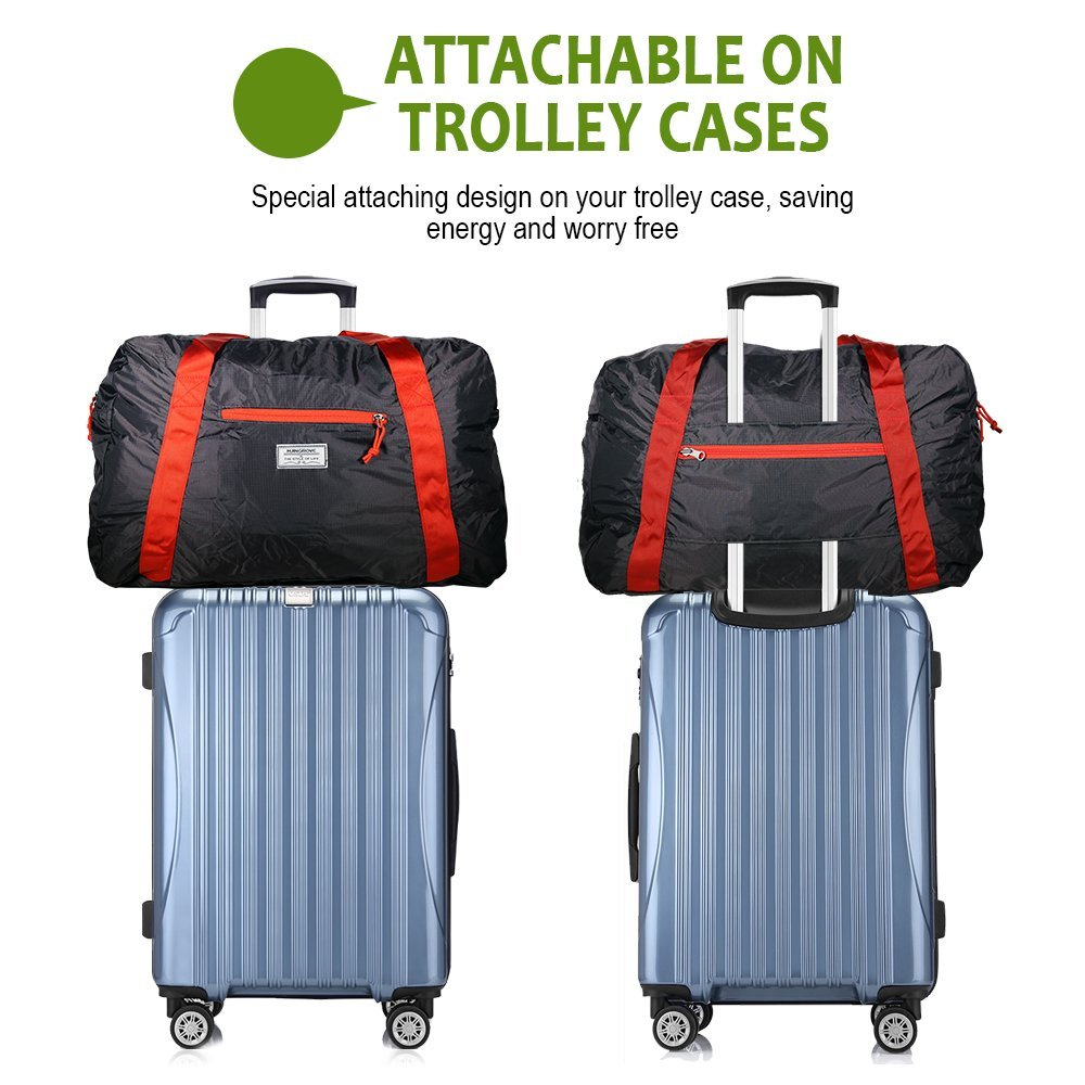 Foldable Duffel Bag 46L Lightweight Travel Luggage Collapsible Backup Bag Sports Vacation Mangrove IR191359P60KH757