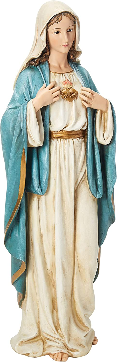 Renaissance Collection Joseph's Studio by Roman Exclusive Immaculate Heart of Mary Statue, 37-Inch