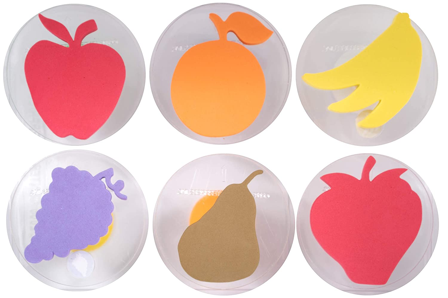 Ready 2 Learn Giant Stampers - Fruit - Set of 6 - Easy to Hold Foam Stamps for Kids - Arts and Crafts Stamps for Displays, Posters, Signs and DIY Projects