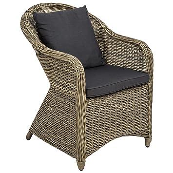 TecTake Aluminium Chaise de Jardin Salon Fauteuil siège en Style Osier  résine tressée avec Coussin et Coussin de Dossier - diverses Couleurs au  Choix ...