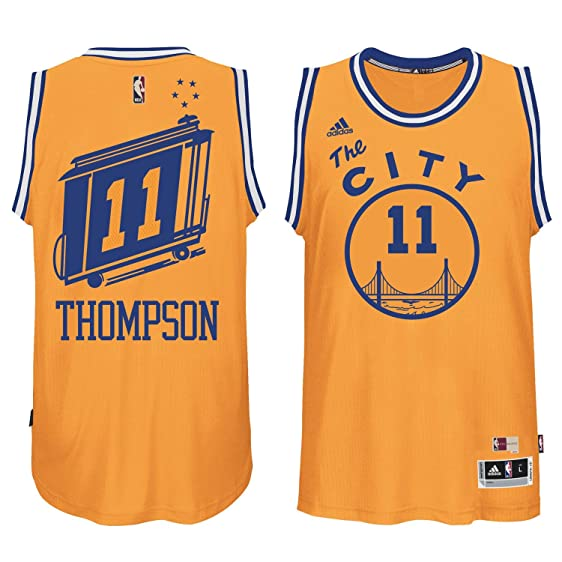 best service f3319 891c6 reduced klay thompson yellow jersey 26ab7 0d5b5
