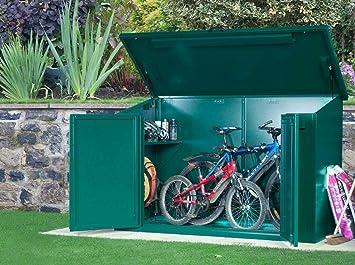 Asgard Access E Plus Police Approved Metal Bike Storage Unit X3 Green