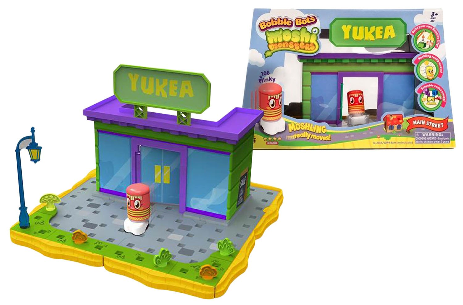 Yukea Store Playset w Plinky #106 moshling Moshi Monsters x Bobble Bots Store Gift Set Series