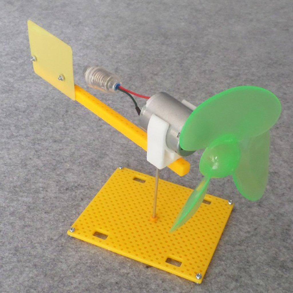 Baoblaze G/én/érateur Horizontal De Turbine De Vent DIY Mod/èle /Éolienne Assembler Jouet