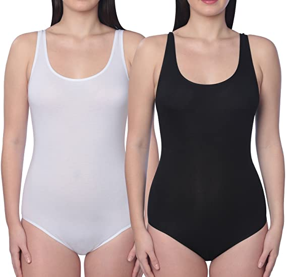 b2fb67ec1a7a7 Active Club Women s Seamless Shapewear Bodysuit Tank(2 Pack)