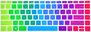 "Keyboard Cover Compatible with 13.3"" HP Spectre x360 13-ac 13-ae 13-ap 13-w Series Laptop, 15.6"" HP Spectre x360 15t 15-ap 15-bl Series Laptop - Rainbow"