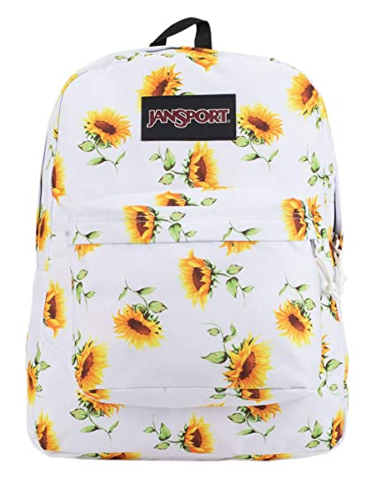 Jansport Black Label Super Break Sunflower Backpack by Jan Sport