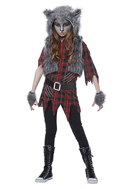 California Costumes Wolf Full Moon Werewolf Girls Costume Red/Gray Large  sc 1 st  Amazon.com & Amazon.com: California Costumes Werewolf Girl Child Costume-: Toys ...