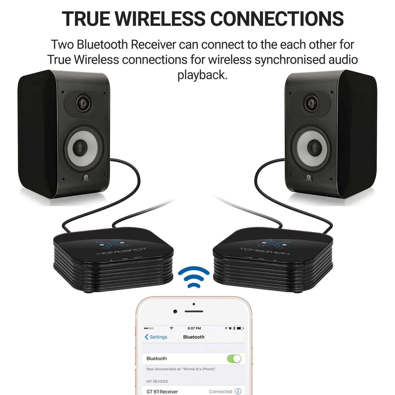 Bluetooth Empf/änger HomeSpot Bluetooth Adapter Bluetooth 4.2 HiFi Audio Adapter mit aptX Low Latency f/ür Bluetooth Musik Streaming an HiFi Stereo Anlage oder Sound System