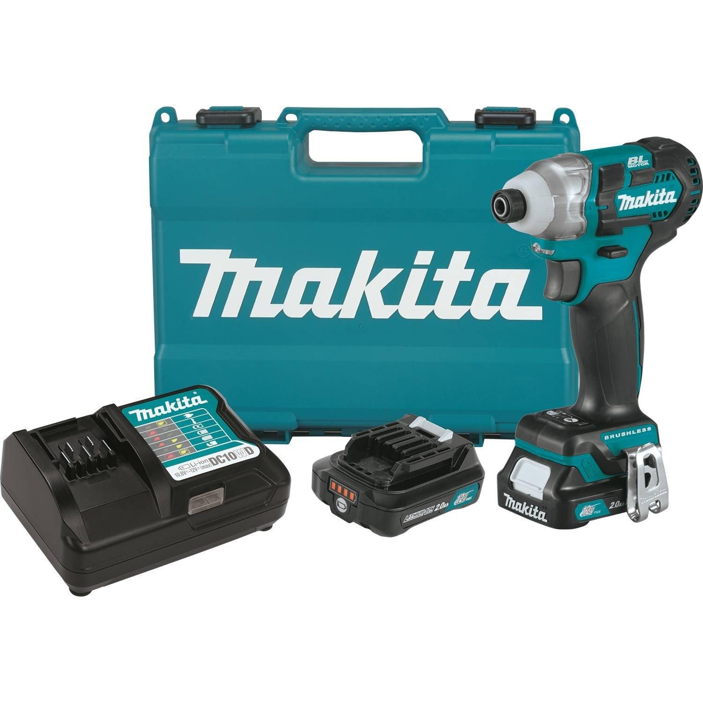 Makita DT04R1 12V Max CXT Lithium Ion Brushless Cordless Impact Driver Kit 2.0Ah